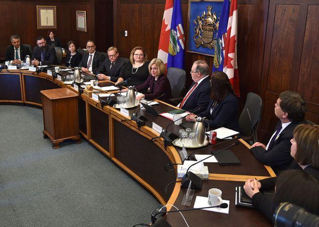 Premier Rachel Notley's opening remarks at the cabinet meeting at the Alberta Legislature in Edmonton, April 9, 2018. Ed Kaiser/Postmedia