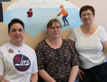 Kim Hiebert, Tatjana Kreker and director Lenora Fassett are just a few of the dedicated staff at Winkler Day Care Centre. (LAUREN MACGILL, Winkler Times)