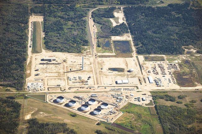 MEG Energy's Stonefell terminal in Alberta's Industrial Heartland.   Photo courtesy Strathcona County Economic Development and Tourism