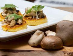 Wild mushrooms on polenta, a tasty treat. Postmedia Network