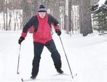 A skier plies the trails at Hiawatha Highlands