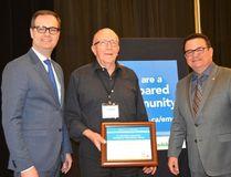 Municipality of Louise Reeve Ken Buchanan accepts the Emergency Preparedness Award.