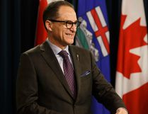 Finance Minister Joe Ceci at a news conference at the Alberta Legislature in Edmonton on Tuesday, April 10, 2018. Photo by Ian Kucerak/Postmedia Network