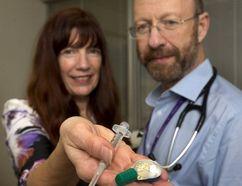 Doctor Sharon Koivu and Dr. Michael Silverman show drug paraphernalia. (File photo)