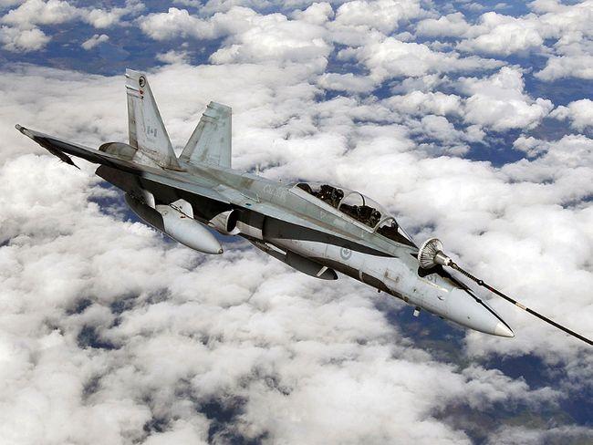 RCAF CF-18 fighter jet.