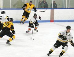 A charity hockey game in Tillsonburg Saturday night raised almost $3,000 for the Humboldt Strong Community Foundation. (CHRIS ABBOTT/TILLSONBURG NEWS)