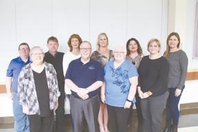 Members of the LCHF: Back Row: Brian Kavanagh, Dave Beach (Vice-Chair), Lynette Hayden (Past Chair), Korynna Wolfe (LCH Director), Vani Lamba, Kristina Dembinski (Secretary). From Row: Linda Chapelsky (Treasurer), Mike McCrae (Chair), Marilyn McGhan, Christina Forth. (Rep staff photo)
