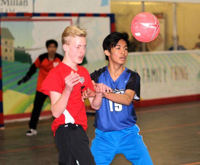 The junior high handball provincials recently attracted 52 teams to Millennium Place in Sherwood Park. Shane Jones/News staff