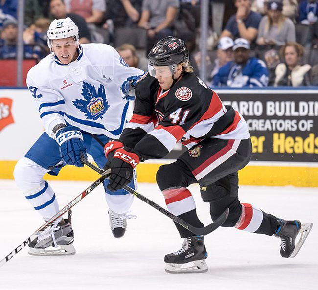 The Belleville Senators and Toronto Marlies will clash six times next season at Yardmen Arena as part of the AHL's Battle of Ontario. (Toronto Marlies photo)