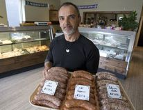 Miki Hambalek is the owner of the Hungary Butcher in London. (Derek Ruttan/Postmedia News)