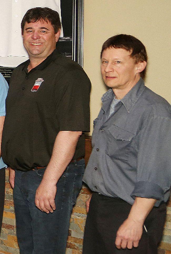 Chris Johnson and Drew Eloranta - John Lappa/The Sudbury Star/Postmedia Network