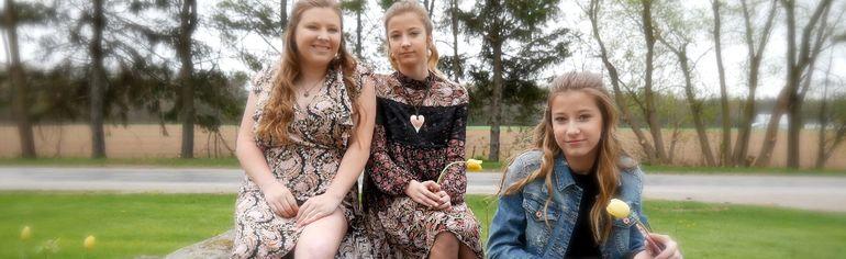 Small Town Girls, from left, are Cassie, Haley and Hannah Van Maele. (CHRIS ABBOTT/TILLSONBURG NEWS)