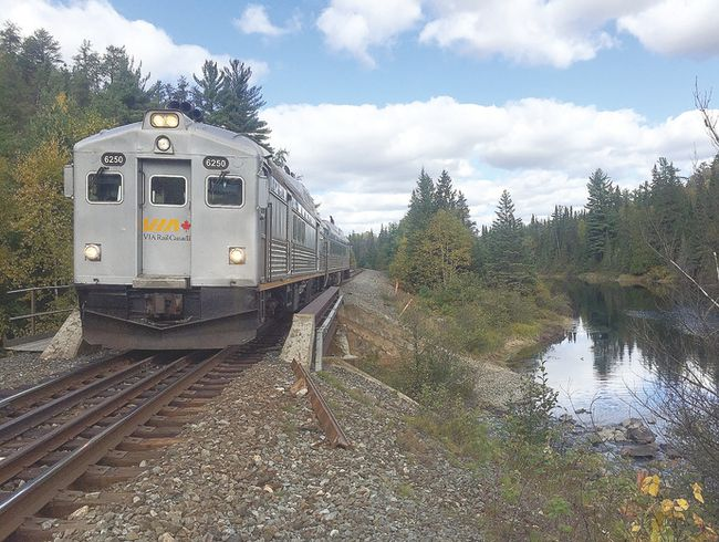 Sudbury-Hawk Junction rail passengers make their way through Rainbow and Algoma Country. VIA Rail Canada photo