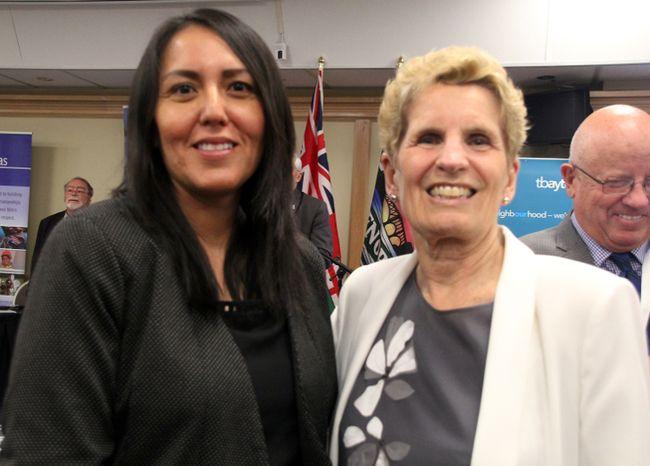 2018 Ontario Election Kenora-Rainy River Liberal candidate Karen Kejick (left) and Ontario Premier Kathleen Wynne. SHERI LAMB/Daily Miner and News/Postmedia Network