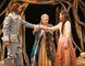 From left: Sébastien Heins as Ferdinand, Martha Henry as Prospero and Mamie Zwettler as Miranda in The Tempest. (David Hou/Stratford Festival)