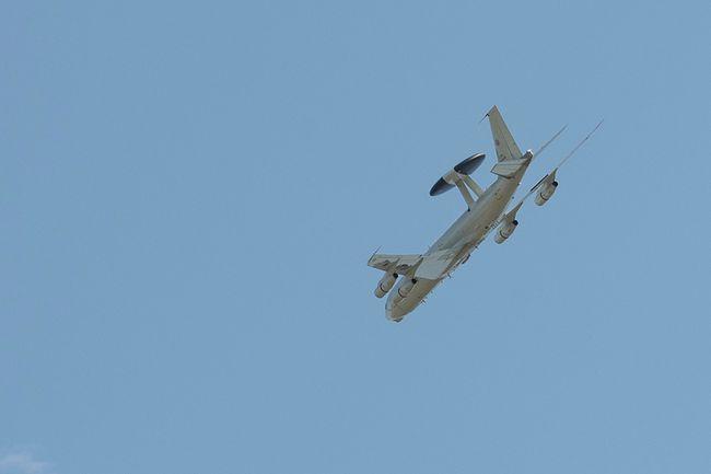 A NATO E-3A AWAC flies around Cold Lake.