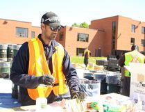 Biyash Murugesa organizes contains at the hazardous waste on Saturday, June 16.