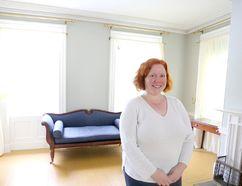 Meghan Balogh/The Whig-Standard JoAnne Himmelman inside Macpherson House in Napanee.