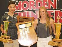 Athletes of the year, Erick Buchsmann and Makenzie McCallum.
