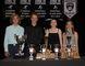 GVC major athletic award winners (from left) Rylan Thomas, TJ Matuszewski, Talia Peters, Anna Gruen. (THOMAS FRIESEN, Winkler Times)