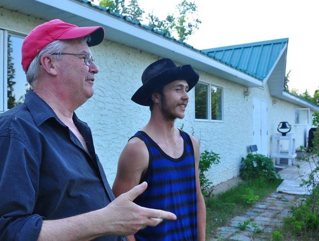 Camp Whitney chairman Jim Belliveau talks with camp councillor Doug Webber.