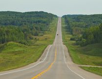 A view down Highway 881 near Conklin, Alta. on August 28, 2013. Ryan Jackson/Postmedia Network