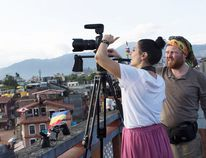 Nepal filming Path of Pilgrims