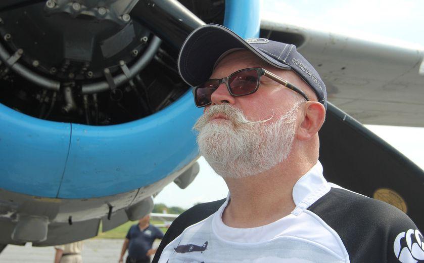 Vintage bomber visits Kingston