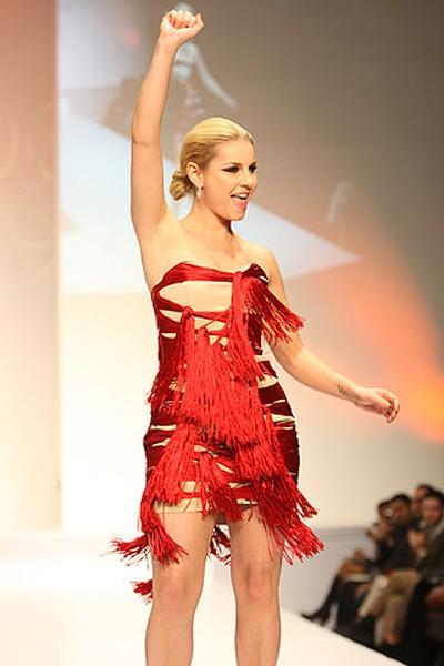 Celebrity: Actress Elisha Cuthbert Designer: VAWK (VERONICA HENRI, Toronto Sun)