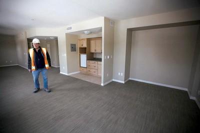 Site manager Paul Graveline offers a tour of the Villa Aulneau, which will open April 1 after a $30-million renovation. (Winnipeg Sun)
