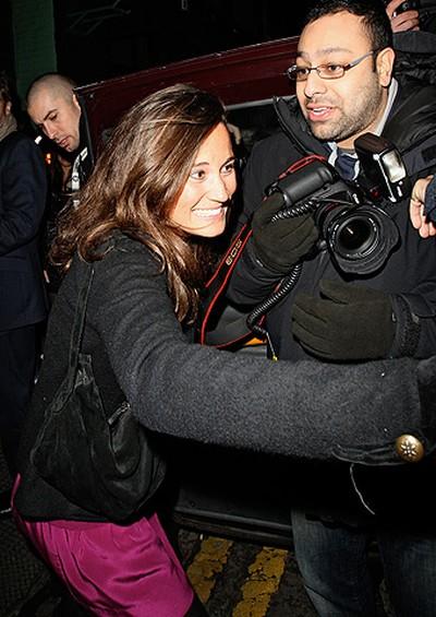 Pippa Middleton leaves Public Nightclub, London, England, Feb. 18, 2011. (WENN.COM)