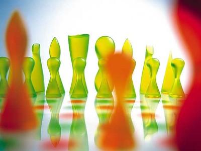 Acrylic chess board designed by Karim Rashid. (Supplied)