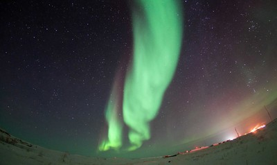 Northern lights in Tuktoyaktuk, NT. Photo by Francis Anderson.
