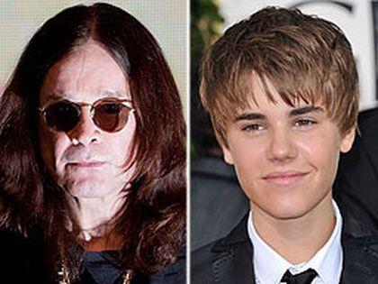 Ozzy Osbourne and Justin Bieber. (WENN.COM)