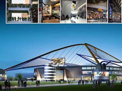 Artists rendition of the new football stadium. (HANDOUT)
