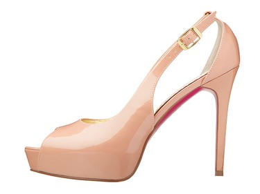 Barbie by Town Shoes pale pink pumps, $140, townshoes.com
