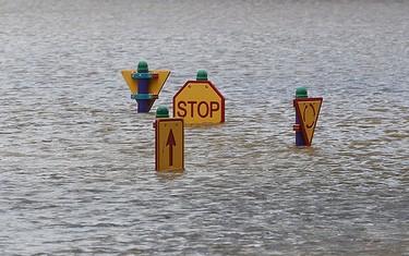 A play ground affected by flooded waters is seen  in Bundaberg, Queensland, Australia Jan. 1, 2011.  REUTERS/Daniel Munoz