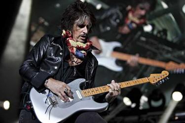 Joe Perry of Aerosmith performs at Rexall Place in Edmonton, Alberta, on Tuesday. CODIE MCLACHLAN / EDMONTON SUN
