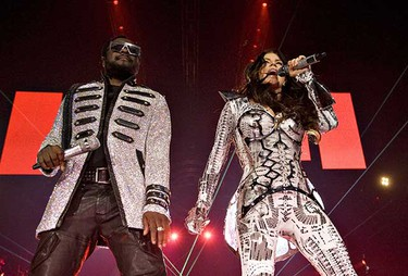The Black Eyed Peas perform at Rexall Place Aug. 23. (Jason Franson/Edmonton Sun)