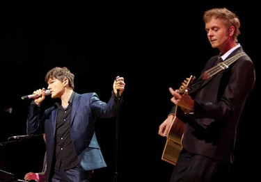 Norweigan pop act a-ha plays at Massey Hall on May 10, 2010. (GREG HENKENHAF/Toronto Sun)