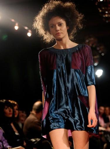 A model presents a creation by designer Karim Bonnet during a fashion show in Bitola April 23, 2010. (REUTERS)