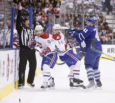 Toronto Maple Leafs left wing Nikolai Kulemin during an NHL hockey game in Toronto on March 20, 2010.  (GREG HENKENHAF, Toronto Sun)