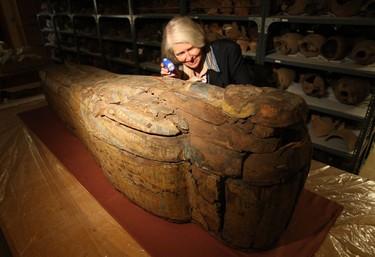 Incised bone ornament, c 18,000 BC, From France, made of bone. (CRAIG ROBERTSON, Toronto Sun)