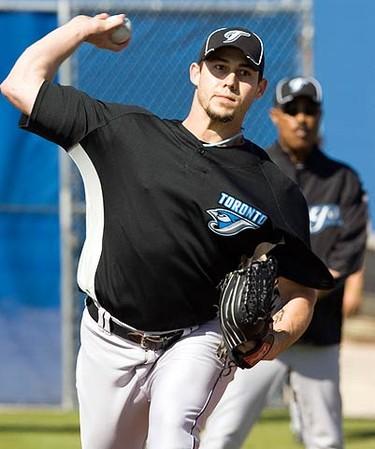 Blue Jays pitcher Dustin McGowan. (Reuters files)
