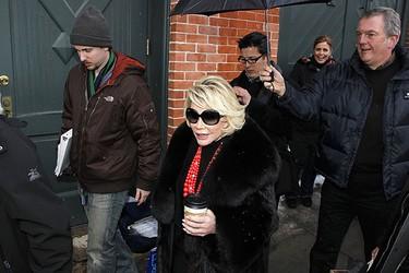 Comedian Joan Rivers walks down Main Street during the 2010 Sundance Film Festival in Park City, Utah Jan. 26, 2010.  REUTERS/Lucas Jackson