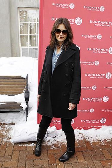 "Actress Katie Holmes arrives for the premiere of ""The Romantics"" during the 2010 Sundance Film Festival in Park City, Utah Jan. 27, 2010.  REUTERS/Lucas Jackson"