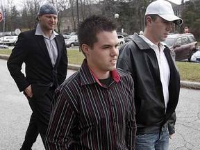 Trevor Middleton, in striped shirt. (DAVE ABEL/Toronto Sun files)