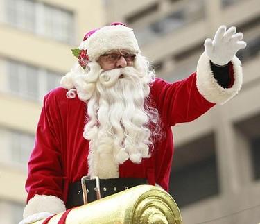 Santa makes his big entrance at today's parade. Today was the 105th annual Santa Claus Parade. (MARK O'NEILL, Sun Media)