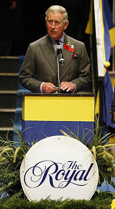 Charles opens the Royal Winter Fair in Toronto on Nov. 6, 2009. (MICHAEL PEAKE, Sun Media)