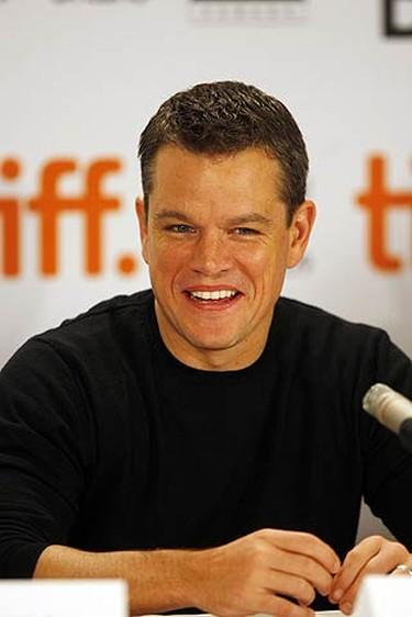 Actor Matt Damon at a press conference for The Informant during the Toronto International Film Festival on Sept. 11, 2009. (MICHAEL PEAKE, Sun Media)